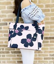 Kate Spade Cameron Pocket Laptop Large Top Zip Tote Grand Flora Serendipity Pink