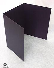 25  3 Panel COAL BLACK Cards & 25 C6 White Envelopes