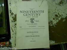 Reprint from The Ninetheenth Century and After - September 1943 - Integration