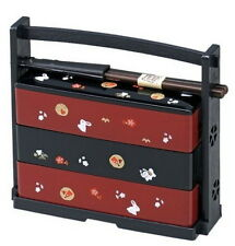 Japanese Usagi Bento Lunch Box 3Tiers Red Rabbit 51135 S-1951 AU