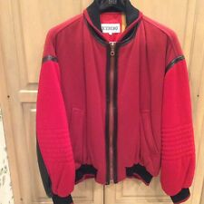 Vintage Iceberg Red with Black Leather trim Bug's Bunny Jacket