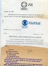 BRENDA VACCARO SARA TV SHOW RARE ORIGINAL 1976 CBS TV PRESS MATERIAL