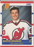 Martin Brodeur New Jersey Devils 1990-91 Score English Rookie Hockey Card #439