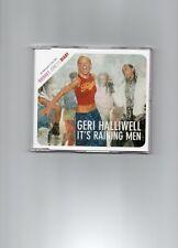 GERI HALLIWELL (SPICE GIRLS) 2 TRACK  UK CD PROMO IT'S RAINING MEN