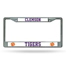 Clemson Tigers Metal License Plate Frame Chrome Purple Letters Truck Car  NEW