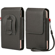Black Belt Clip Holster Pouch Case for iPhone 8 Plus / Samsung Galaxy S8 Plus