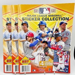 2020 Topps MLB Sticker Collection Book (Lot of 3)