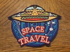 """Space Travel Embroidered Iron/Sew ON Patch Applique 3.5""""x3"""" Spaceship"""