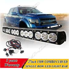 27'' 150w CREE LED BAR White Stroboflash Led Remote Light Bar Offroad 4x4 Truck