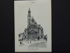 French Paris Guidebook Original PhotoPrint Church of the St-Etienne-du-Mont #58