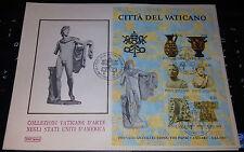 FDC Vaticano 1983 collezioni vaticane d'arte negli Usa busta n.3