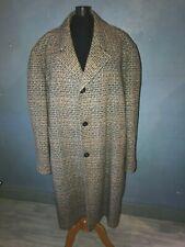 Manteau vintage pour homme  en tweed taille 52 pure laine.