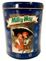 1993 Milky Way Candy Bar Collectible Tin Christmas Winter Themed Canister