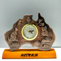 Australia Map Clock w Movement Australia Souvenir Clock Australian Gift-Bronze