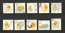 JAPAN 2017 DISNEY WINNIE THE POOH COMP. SET OF 10 STAMPS IN FINE USED CONDITION
