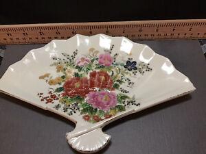 Andrea By Sadek Hand painted Porcelain Fan Shaped Trinket Dish