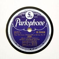 """BENNY GOODMAN SEXTET """"Shine"""" (E+) PARLOPHONE R-3002 [78 RPM]"""