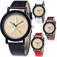 Fashion Women Lady Girl Starfish Pattern Leather Analog Quartz Vogue Wrist Watch