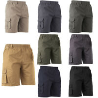 Mens Multi-Pocket Gym Shorts Casual Work Cargo Short Pants Summer Loose Fit
