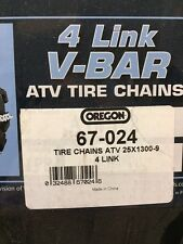 OREGON 67-024 ATV 4 LINK V-BAR TIRE CHAINS 25-1300 X 9 ONE SET AVAILABLE