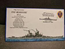 USS MISSOURI BB-63 Naval Cover 2004 EVERETT Hand-Drawn BATTLESHIP Cachet