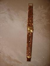 "Vtg Nice Juvenia 18K Yellow Gold Square Women's Watch Bracelet 7.5"" L 56.7 Gram"