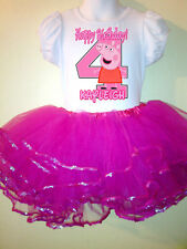 Peppa Pig Party Birthday Dress 2pc tutuset 1T,2T,3,4,5,6,7,8,9 pink