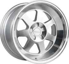 17x8 Klutch ML7 4x100 Rims +15 Brushed Silver Wheels (Set of 4)