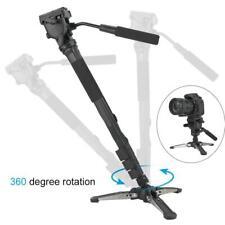 Aluminium 288 DSLR Camera Monopod 360° Fluid Pan Head Stand Unipod Base Tripod