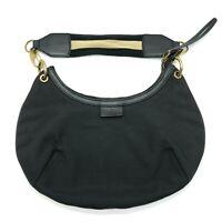 Gucci Monogram GG Canvas small Hand Bag Black Shoulder Bag