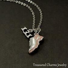 13.1 Half Marathon Pink Running Shoe Necklace - Silver and Pink Runner Charm