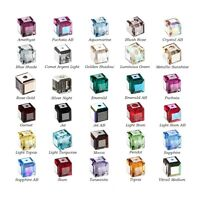 6 Swarovski® Crystal faceted cube 8x8mm Beads 5601, 6 faceted cube 5601.