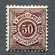 AD Württemberg Pfennige / Dienstmarken postfrisch ex Mi. Nr. 44 - 281