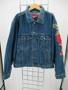 H3549 VTG Wrangler Denim Jean Trucker Jacket Size XL
