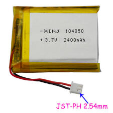 3.7V 2400 mAh Polymer Li battery Li-po JST-PH 2.54 plug For MID Tablet PC 104050