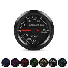 "2/"" 52mm 7 LED de color puntero Turbo Boost Gauge motor gradual 12V PSI Medidor Negro"