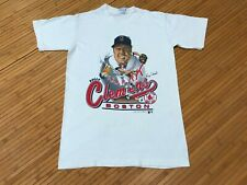 Small - Vtg 1988 Boston Red Sox Roger Clemens Caricature Single Stitch T-shirt