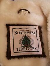 North West Territory Women's Genuine Leather Jacket - Dark Brown - Size M