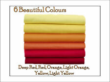 ECO Friendly  WOOL FELT Fabric Squares,12 pieces Red, Orange, Yellow -
