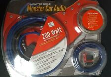 Monster Car Audio 200 Watt Car Amplifier Hookup Kit 270-4135 & Free 3' RCA cable