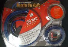 Monster Car Audio 200 Watt Car Amplifier Hookup Kit 270-4135 & Free 3' RCA cable