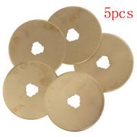 5pcs Titanium Coated 45mm Replacement Rotary Cutter Blades Set Sharpener K`.JCAU