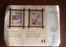 THE CREATIVE CIRCLE NEEDLE POINT KIT~1689~CLOTHESLINE QUILTS~SEALED