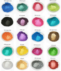 23 Colors 10g Pearl mica Powder Coating Mineral Mica Dust DIY Soap Pigment nail
