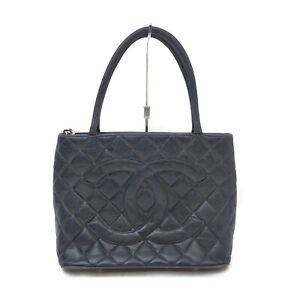 CHANEL Tote Bag Medalion Black Caviar Skin 1519706