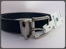 NWT The Original BEN SHERMAN Reversible Belt Men Size 38- 40 Black / Navy Silver