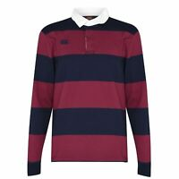 Canterbury Full Length Sleeve Retro Jersey Mens Gents Polo Shirt Tee Top