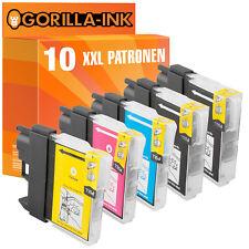 10 Druckerpatronen XXL für Brother DCP-195C MFC-250C MFC-255CW MFC-290C LC980