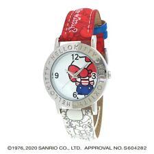 Sanrio Hello Kitty Wrist Watch Analog Tricolor Red White HK-AL1661 Japan