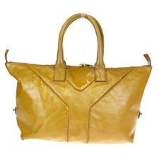Auth Yves Saint Laurent Easy Rive Gauche Unisex Patent Leather Handbag O 02BP276
